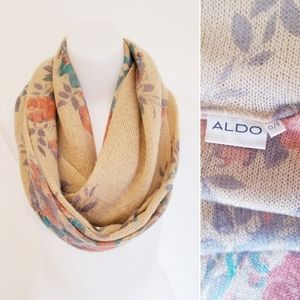 ALDO Knit Infinity Scarf, Floral, O/S